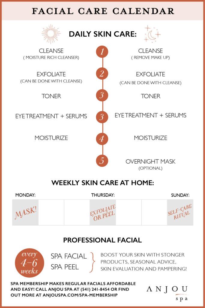 facial care calendar